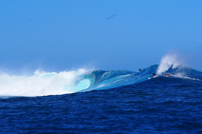 Spot de surf offert par la nature, Tahiti <3